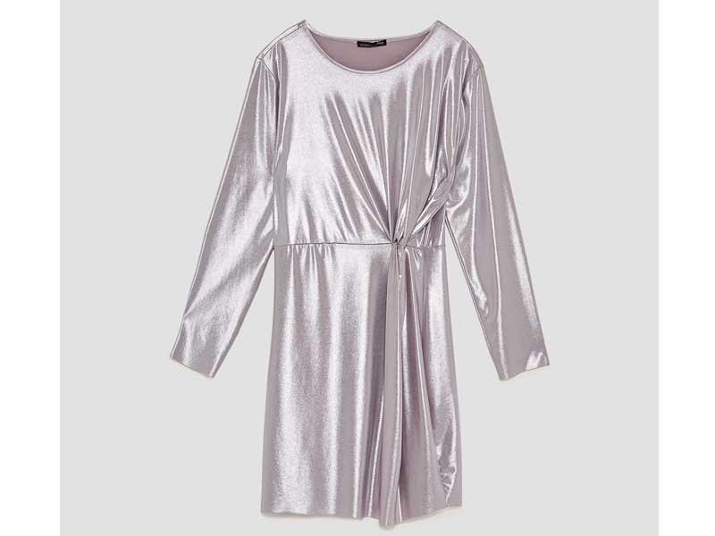 361bc2101 فستان لامع لون ميتاليك من زارا في مراكز سيتي سنتر للتسوق