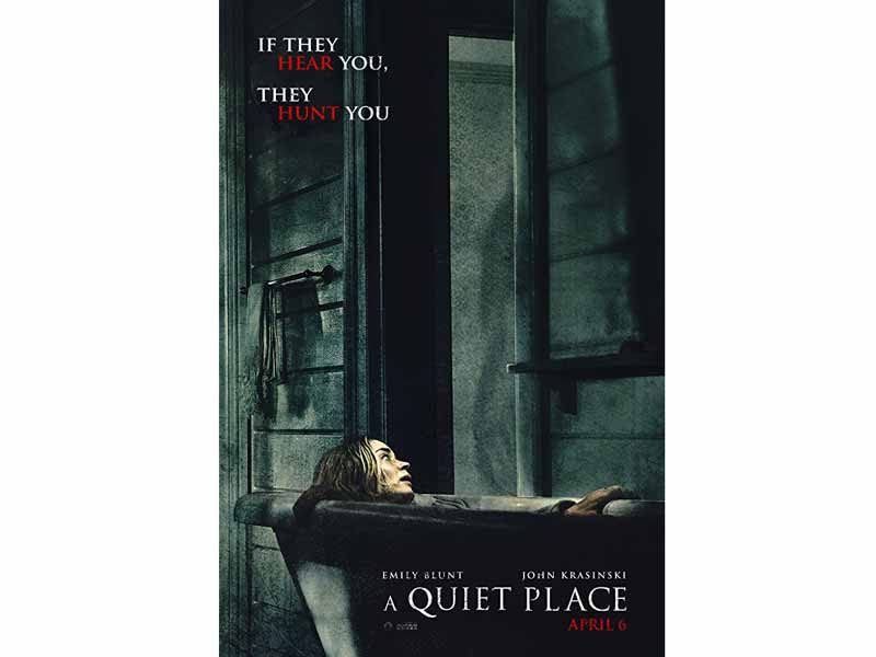 A Quiet Place movie poster at VOX Cinemas in Bahrain