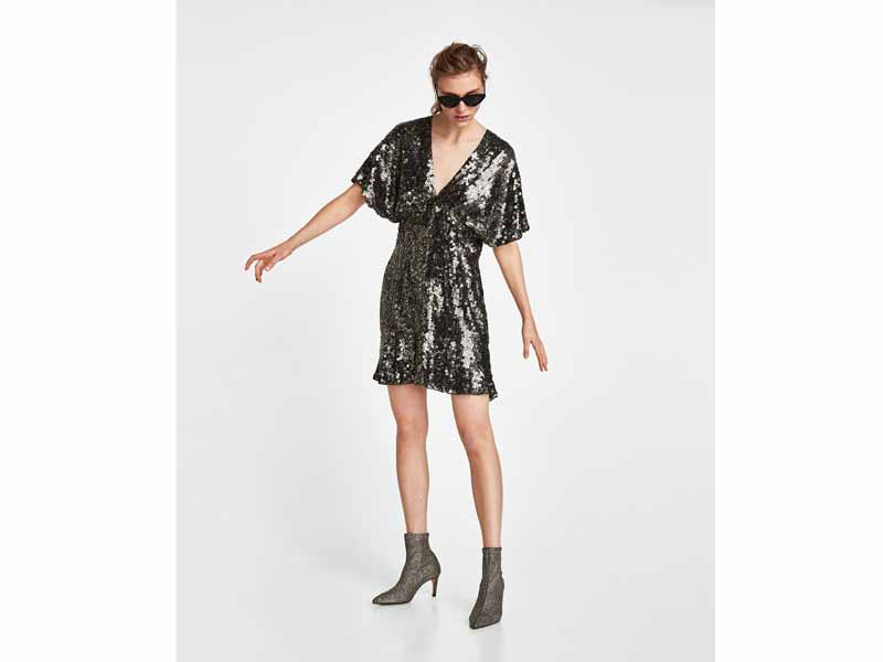 Sequin-splashed mini dress by Zara Bahrain