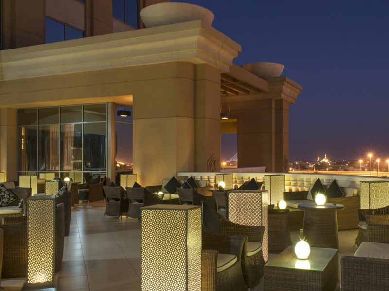 Rooftop views at Vantage Lounge in Dubai