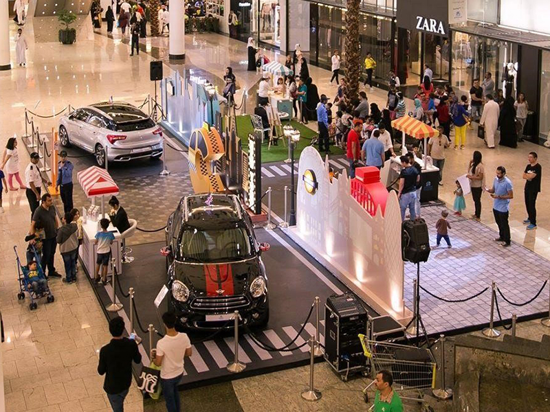 Shop & Win displays, fun, and games at the Central Galleria of City Centre Bahrain