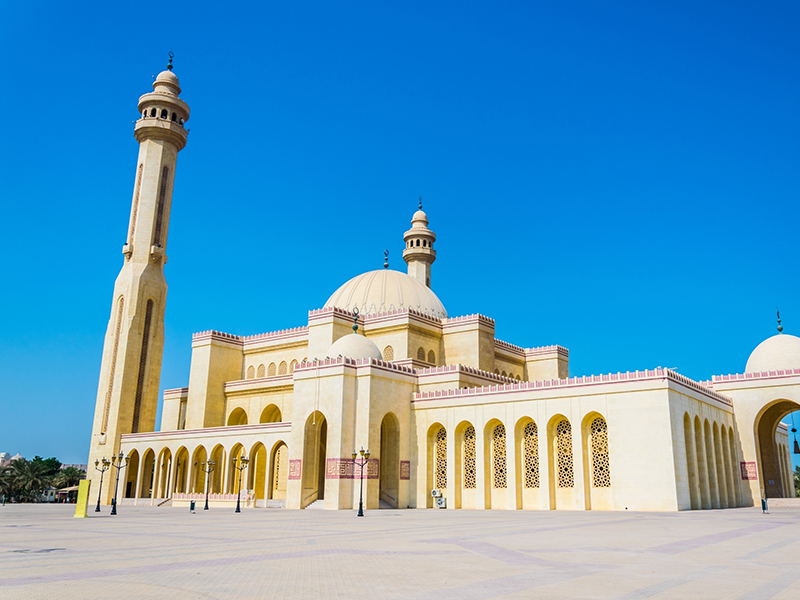 An outside view of the Al Fateh Grand Mosque in Manama