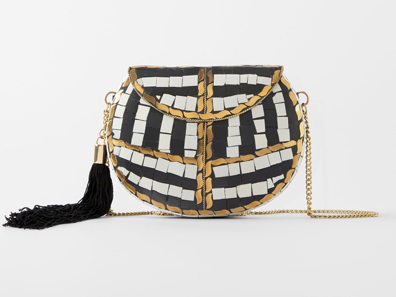Beaded Minaudière evening bag by Zara, available at City Centre Bahrain