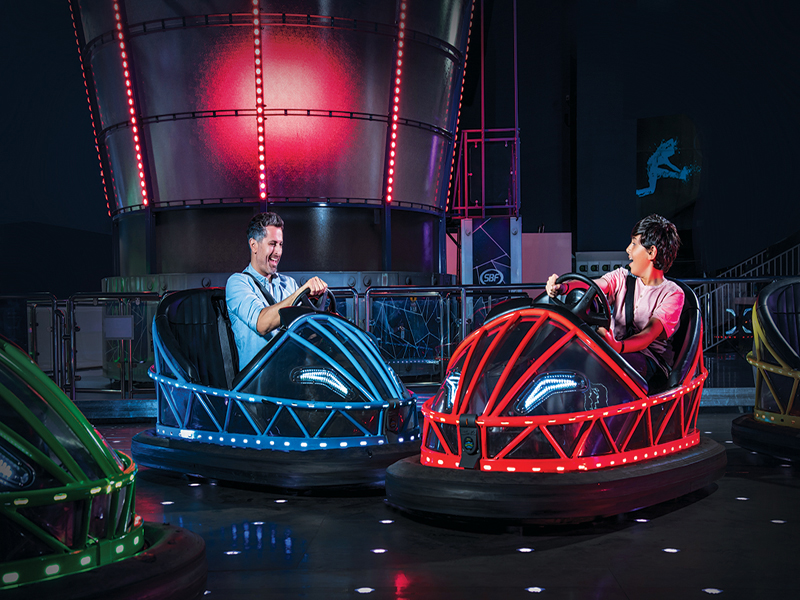 Bumper cars at Magic Planet, Bahrain