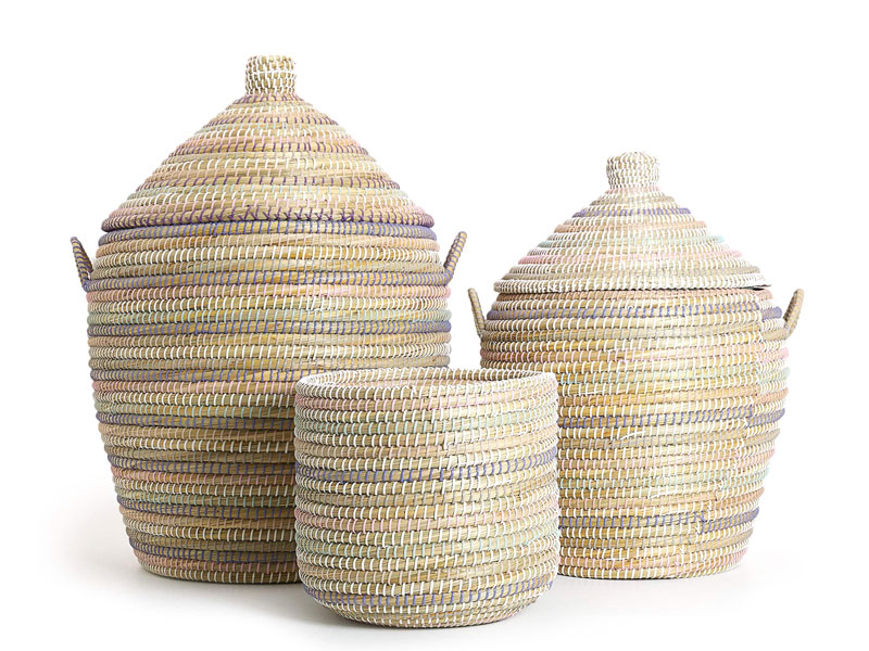 Colourful straw baskets by Zara Home at Mall of Egypt and City Centres