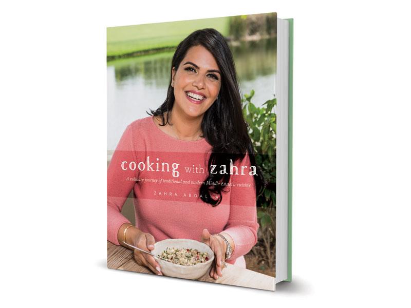 7032d1be800e8 كتاب «Cooking With Zahra» للمؤلفة زهرة عبدالله، أحد إصدارات موتيڤيت ميديا  جروب