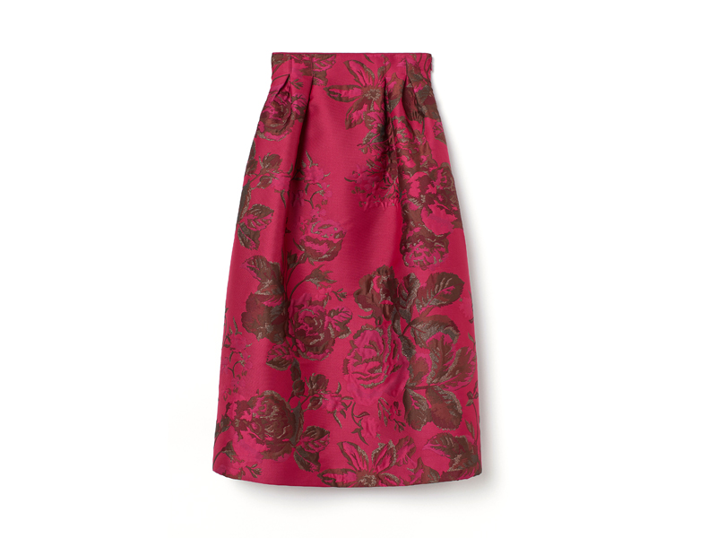 Pink brocade ball skirt by H&M, available at City Centre Bahrain