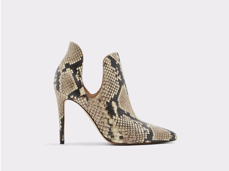 Snakeskin cut-out heeled boots by Aldo, available at City Centre Bahrain