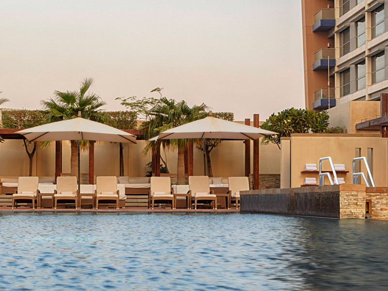 The outdoor pool at The Westin City Centre Bahrain