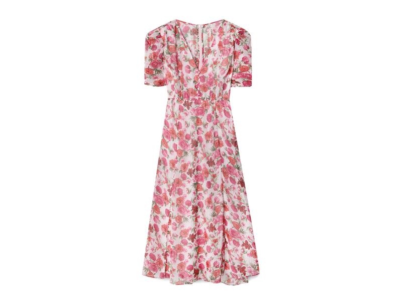 Floral printed pink dress by Stradivarius available at City Centre Bahrain