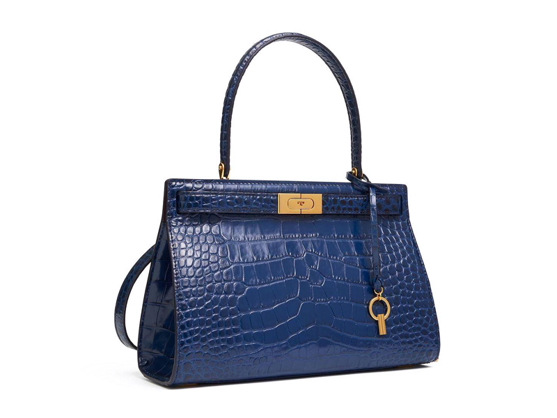 Lee Radziwill navy leather bag by Tory Burch available at City Centre Bahrain