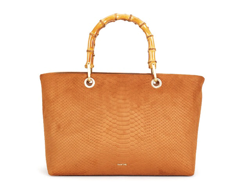 Tote bag with bamboo handle by Parfois, available at City Centre Bahrain