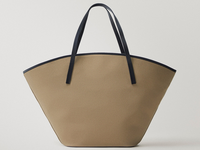 Canvas Tote bag from Massimo Dutti, available at City Centre Bahrain