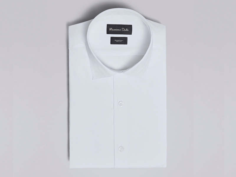 White men's shirt by Massimo Dutti available at City Centre Bahrain