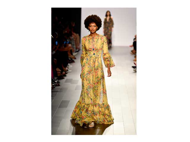 Floral fashion from Tadashi Shoji at New York Fashion Week