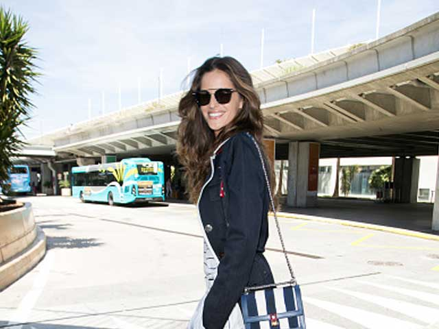 Model Izabel Goulart arrives at Nice Côte d'Azur International Airport during the 70th annual Cannes Film Festival