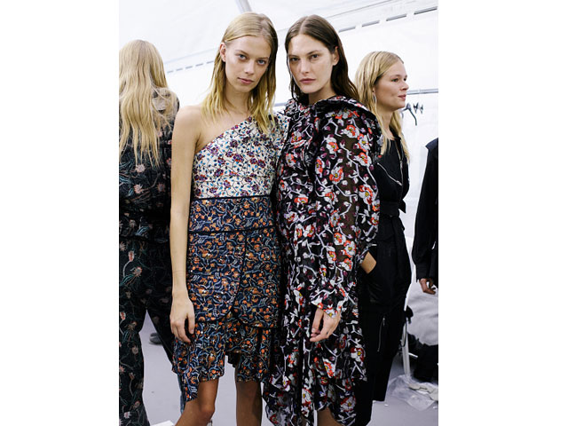 Supermodels Lexi Boling and Catherine McNeil at Isabel Marant