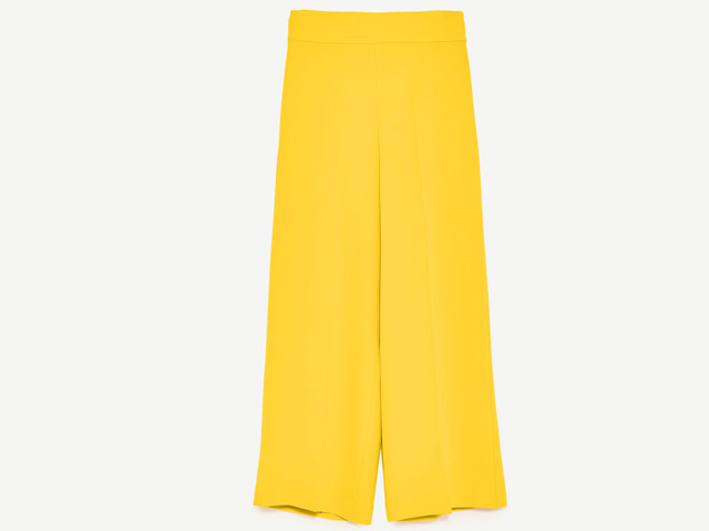 Yellow high-rise trousers from Zara, Mall of the Emirates
